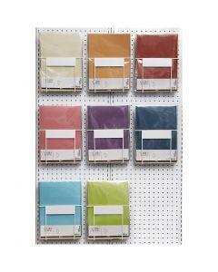 Papel vegetal, A4, 210x297 mm, 100 gr, surtido de colores, 8x10 paquete/ 1 paquete
