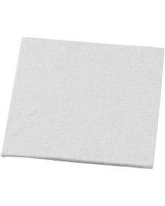 Lienzo en tablilla, medidas 10x10 cm, 280 gr, blanco, 1 ud