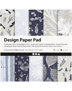 Bloc de papel de diseño, 120 gr, 50 hoja/ 1 paquete