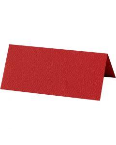 Tarjetas identificativas de lugar, medidas 9x4 cm, 220 gr, rojo, 20 ud/ 1 paquete