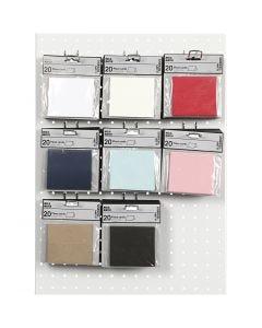 Tarjetas identificativas de lugar, medidas 9x4 cm, 220 gr, surtido de colores, 8x10 paquete/ 1 paquete