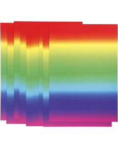 Cartulina arcoiris, A4, 210x297 mm, 180 gr, 10 hoja/ 1 paquete