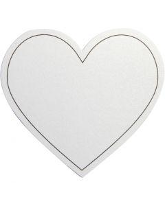 Corazón, medidas 75x69 mm, 120 gr, blanco, 10 ud/ 1 paquete