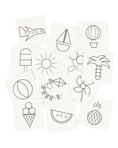 Tarjetas de Memory, medidas 7x7 cm, 400 gr, blanco, 1 set