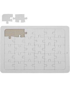 Puzzle, blanco, 10 ud/ 1 paquete