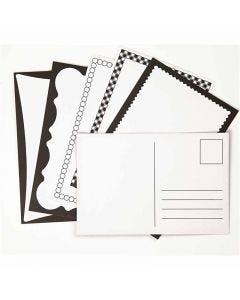 Postales, medida tarjeta 10x15 cm, 300 gr, blanquecino, 5x2 ud/ 1 paquete