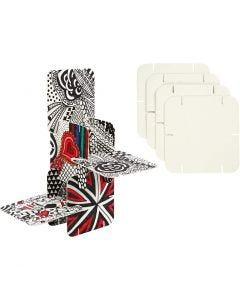 Piezas de construcción, medidas 9,3x9,3 cm, blanco, 200 ud/ 1 paquete
