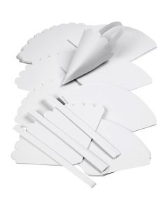 Conos , A: 13 cm, dia: 8 cm, blanco, 240 ud/ 1 paquete