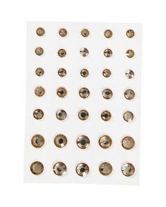 Gemas, Cono redondo, medidas 6+8+10 mm, dorado, 35 ud/ 1 paquete