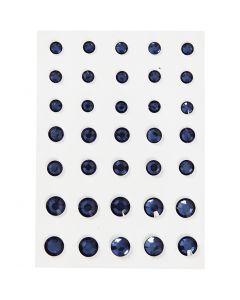 Gemas, Cono redondo, medidas 6+8+10 mm, azul, 35 ud/ 1 paquete