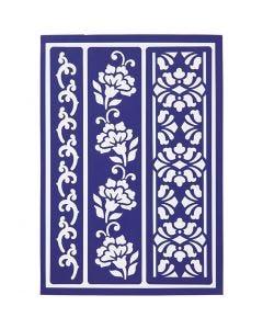 Plantila Flexible, Bordes Florales, 21x14,8 cm, 1 ud