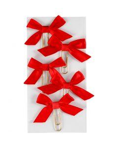 Clips de metal, medidas 40x70 mm, rojo, 5 ud/ 1 paquete
