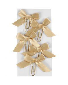 Clips de metal, medidas 40x70 mm, dorado, 5 ud/ 1 paquete
