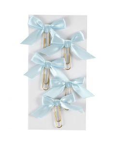 Clips de metal, medidas 40x70 mm, azul claro, 5 ud/ 1 paquete