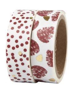 Cinta adhesiva, piñas y puntitos - foil, A: 15 mm, 2x4 m/ 1 paquete