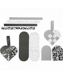 Corazones trenzados, medidas 14,5x10 cm, 120 gr, 8 set/ 1 paquete