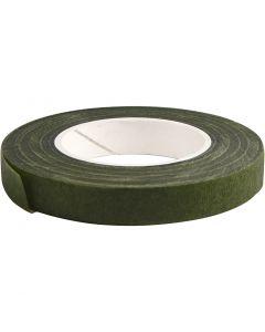 Celo Floral, A: 12 mm, verde oscuro, 27 m/ 1 rollo