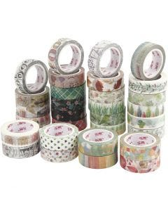 Washi Tape, A: 15 mm, 180x10 m/ 1 paquete