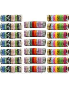 Washi Tape, A: 15 mm, 200 rollo/ 1 paquete