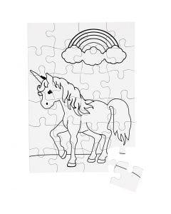 Puzzle, blanco, 16 ud/ 1 paquete