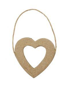 Marco de corazón, A: 7,5 cm, A: 7 cm, 6 ud/ 1 paquete