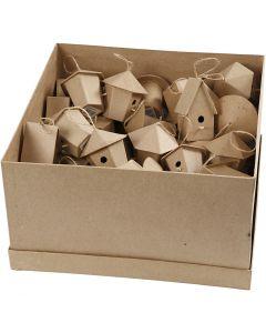 Casas de pájaros mini, A: 7 cm, 6x10 ud/ 1 paquete