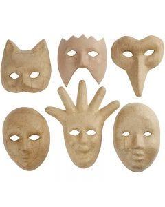 Máscaras medida media, A: 12-21 cm, 6 ud/ 1 paquete
