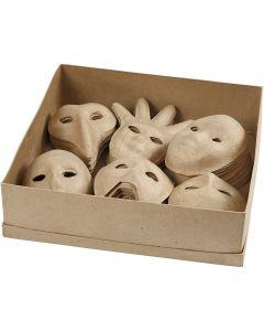 Máscaras medida media, A: 12-21 cm, 6x10 ud/ 1 paquete