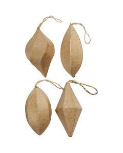 Ornamentos, A: 7+8 cm, 4 ud/ 1 paquete