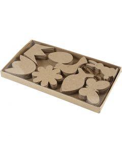 Decoraciones para colgar, Pascua , A: 5-9 cm, grosor 2 mm, 80 ud/ 1 paquete