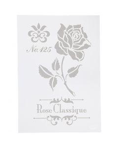 Plantilla, Rosa, A4, 210x297 mm, 1 ud
