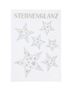 Plantilla, Estrellas, A4, 210x297 mm, 1 ud