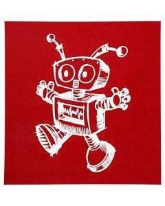 Plantilla adhesiva, robot, 20x22 cm, 1 hoja