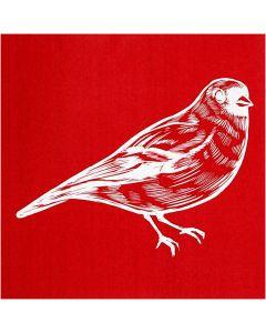 Plantilla adhesiva, pájaro, 20x22 cm, 1 hoja