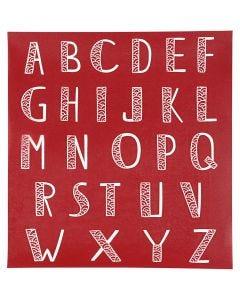 Plantilla Adhesiva, Alfabeto, 20x22 cm, 1 Hoja