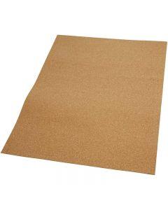 Hojas de corcho, medidas 35x45 cm, grosor 2 mm, 4 ud/ 1 paquete