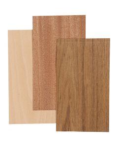 Madera fina de bambú, 12x22 cm, grosor 0,75 mm, 3 hoja/ 1 paquete