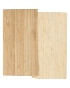 Madera fina de bambú, 12x22 cm, grosor 0,75 mm, 2 hoja/ 1 paquete