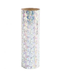 Deco foil , A: 15,5 cm, grosor 0,02 mm, plata, 50 cm/ 1 rollo