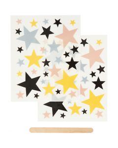"Pegatinas ""Rub-on"", Estrellas, 12,2x15,3 cm, 1 paquete"