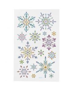 Pegatinas Diamond, copos de nieve, 10x16 cm, 1 hoja