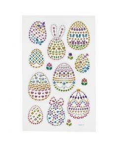 Pegatinas Diamond, huevos de Pascua, 10x16 cm, 1 hoja