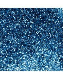 Purpurina biodegradable, dia: 0,4 mm, azul, 10 gr/ 1 bote