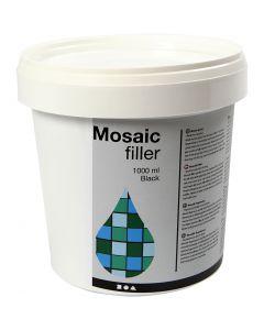 Rellenador de mosaico, negro, 1000 ml/ 1 cubo