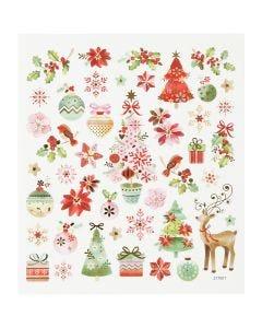 Pegatinas, Navidad romántica, 15x16,5 cm, 1 hoja