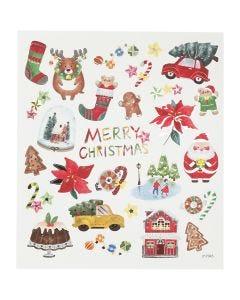 Pegatinas, Todo para la Navidad, 15x16,5 cm, 1 hoja