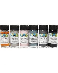 Marmoleado mágico, colores douché, 6x20 ml/ 1 paquete