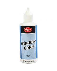 Window Color, transparente, 80 ml/ 1 botella