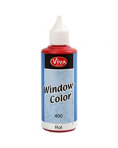 Window Color, rojo, 80 ml/ 1 botella