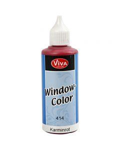 Window Color, rojo carmín, 80 ml/ 1 botella